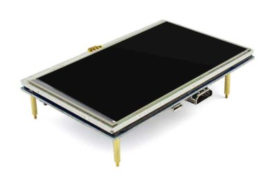 5 Zoll Touchscreen Raspberry Pi abgewinkelt