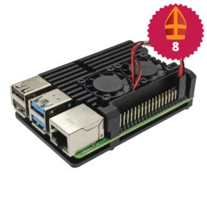 Raspberry Pi 4 heatsink case met ventilator Sinterklaas top 10