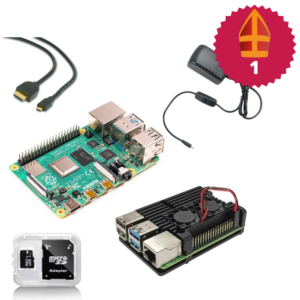 Raspberry Pi starter kit met heatsink case sinterklaas top 10