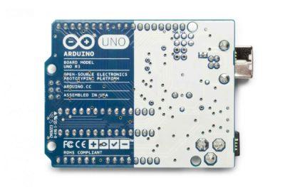 Rückseite Arduino uno