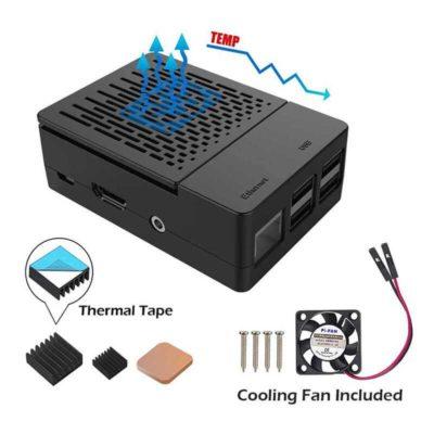 Raspberry Pi Boîtier 3B+ avec ventilateur