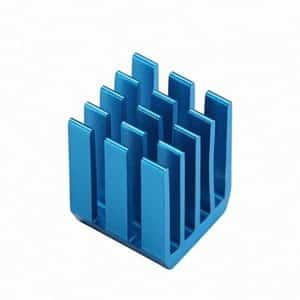 Blauer Kühlkörper für raspberry pi
