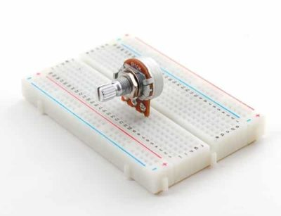 pot meter in breadboard