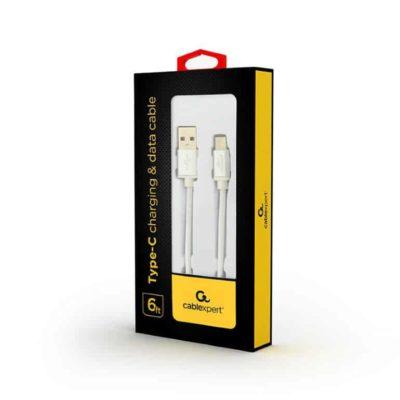 USB C kabel silver verpakking