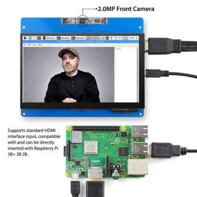 Écran LCD 7 pouces avec écran tactile et appareil photo Raspberry PI