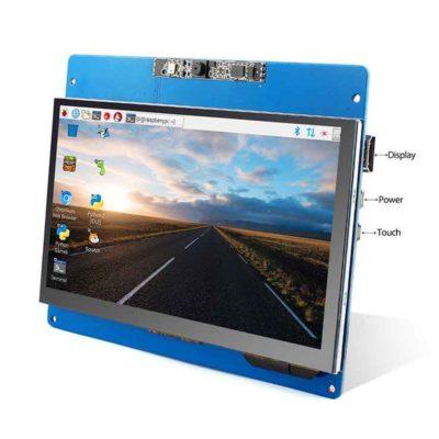 Écran LCD 7 pouces avec écran tactile et spécifications de l'appareil photo