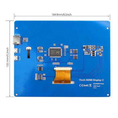 Écran LCD 7 pouces avec écran tactile et caméra arrière