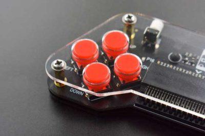 Boutons rouges de la manette de jeu Microbit