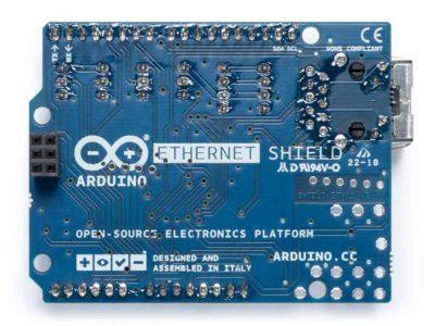 Blindage Ethernet Arduino à l'arrière