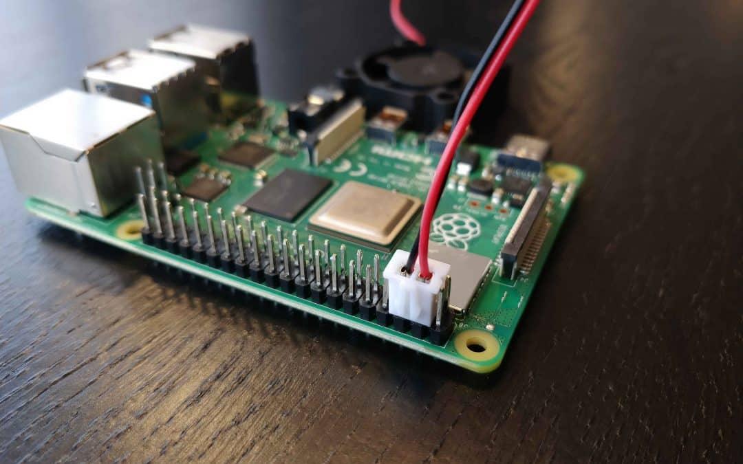 Raspberry Pi 4 Ventilator aansluiten