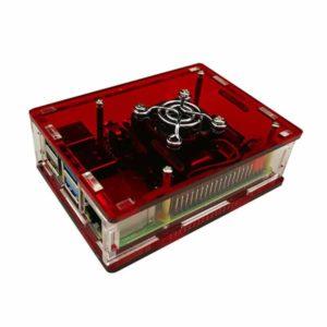 Acryl behuizing raspberry Pi 4B rood