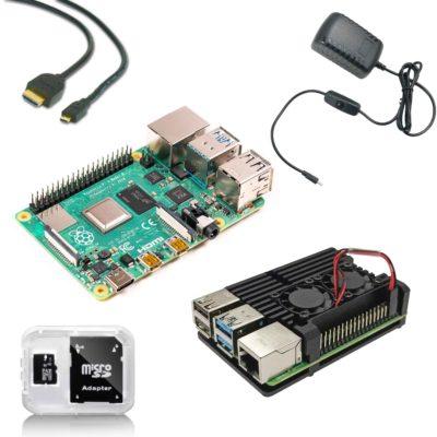 Raspberry Pi 4B starter kit with heatsink case