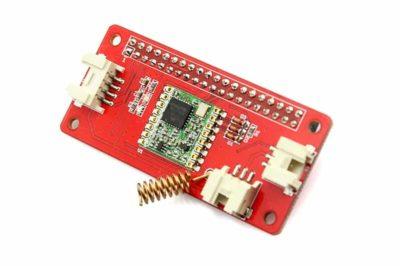 LoRa RFM95 IoT board voor Raspberry Pi schuin