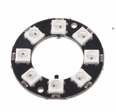 8 Bit RGB LED Ring front