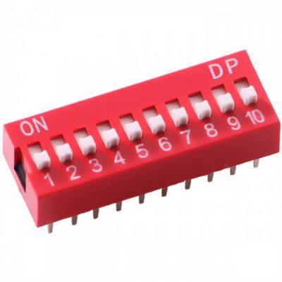 DIP Switch 10 schakelaars