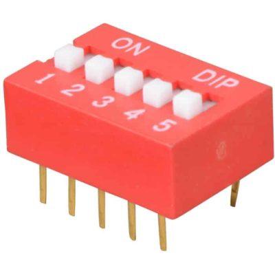 DIP Switch 5 schakelaars