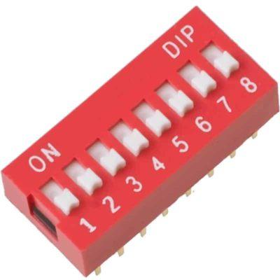 DIP Switch 8 schakelaars