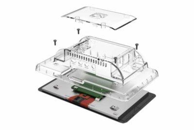 Raspberry Pi 4 7 Zoll Displaygehäuse transparente Installation