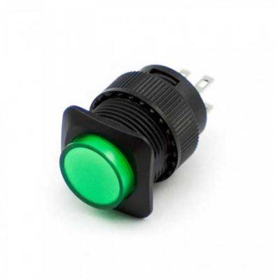 Groene drukknop verlicht
