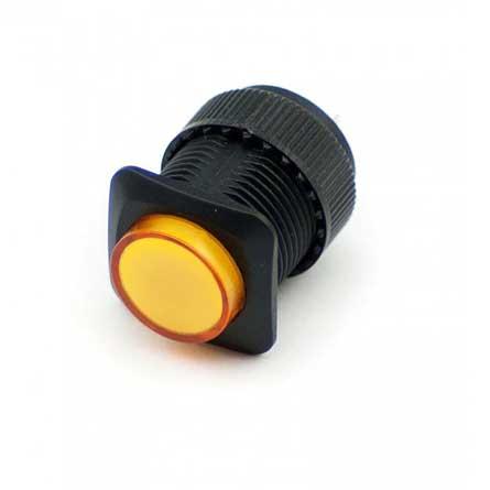 Gele drukknop verlicht