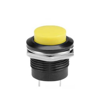 16mm puls drukknop geel
