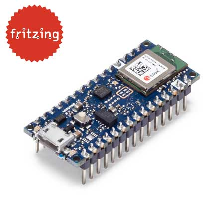 Arduino Nano 33 BLE board met headers - gratis fritzing bestand