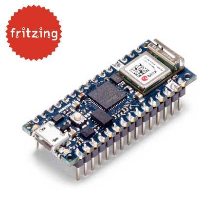 Arduino Nano 33 IoT board met headers - gratis fritzing bestand