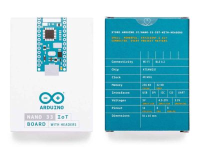 Arduino Nano 33 IoT packaging
