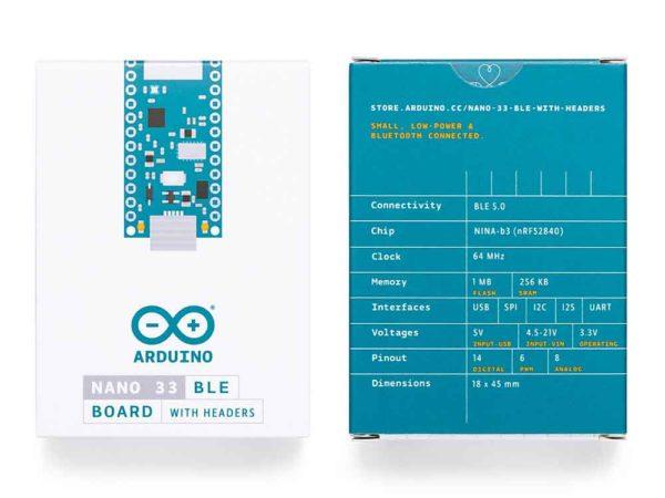 Arduino Nano 33 BLE verpakking