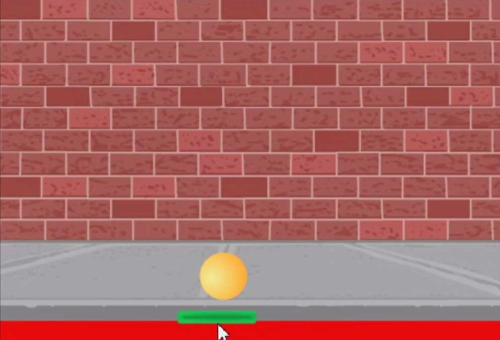 Scratch Pong game