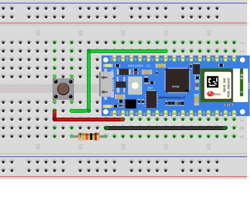 Arduino Nano 33 IoT Potmeter fritzing