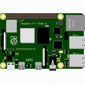 Raspberry Pi 4 model b Fritzing