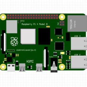 Raspberry Pi 4 model b Fritzing