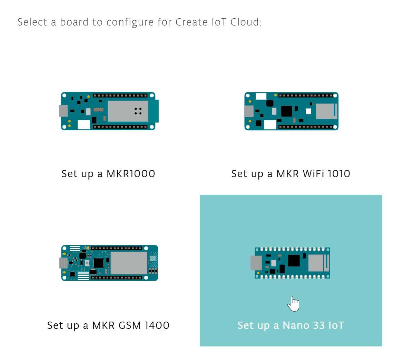 IoT Cloud - Arduino Nano 33 IoT