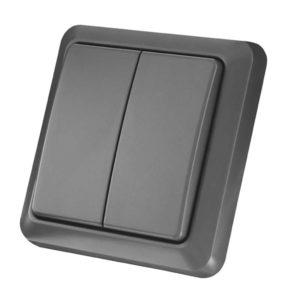 AGST-8802 Dubbele Draadloze Wandschakelaar Voor Buiten KlikAanKlikUit