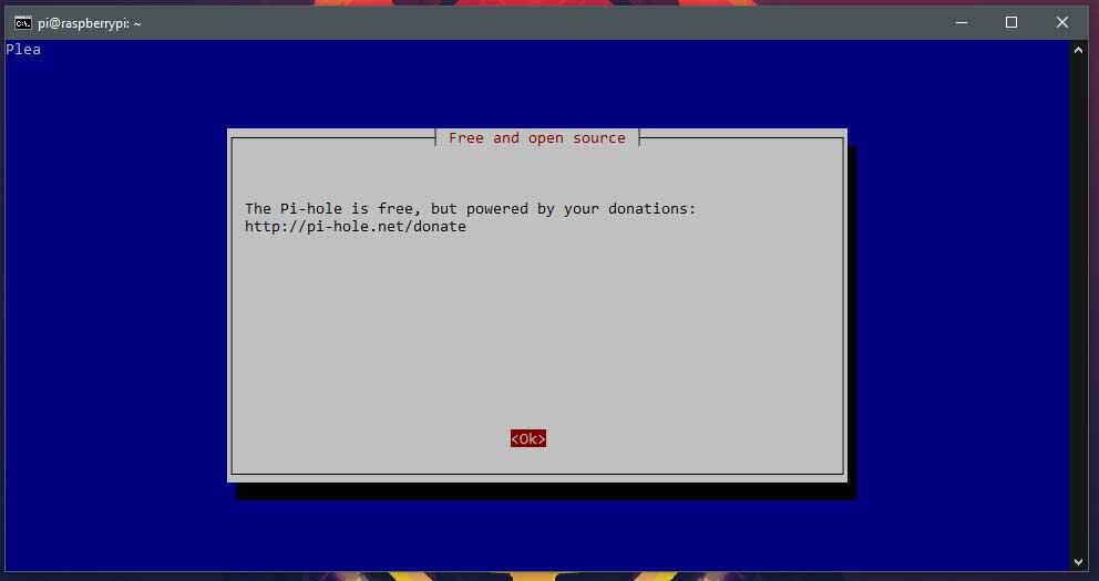 Pagina 2 van de Pi-hole installer