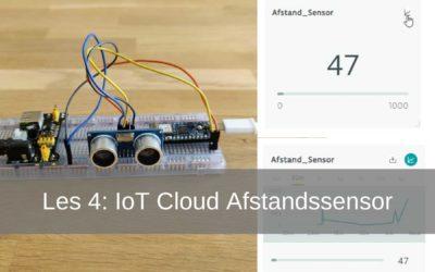 Arduino IoT Cloud les 4: HC-SR04