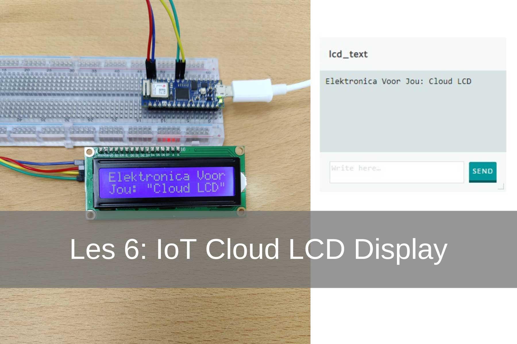 In deze les ga je leren hoe je via de cloud tekst naar een LCD print