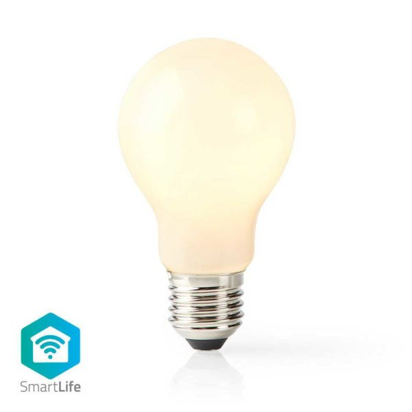 Wi-Fi Smart LED-Lamp | E27 | A60 | 5 W | 500 lm | Wit