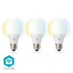 Wi-Fi smart LED-lampen | Warm- tot Koud-Wit | E27 | 3-Pack