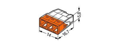 Pince de soudage Wago 3 pôles dimensions