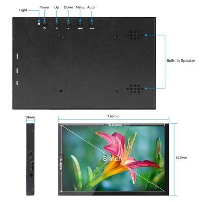 Hier zie je een schematische layout van de display