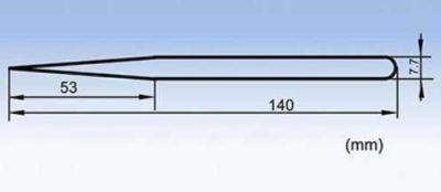 Hier zie je een schematische tekening van het pincet
