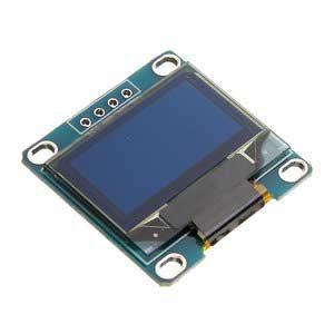 Hier zie je de I2C OLED