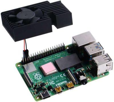 Anschließen des Raspberry Pi-Kühlkits