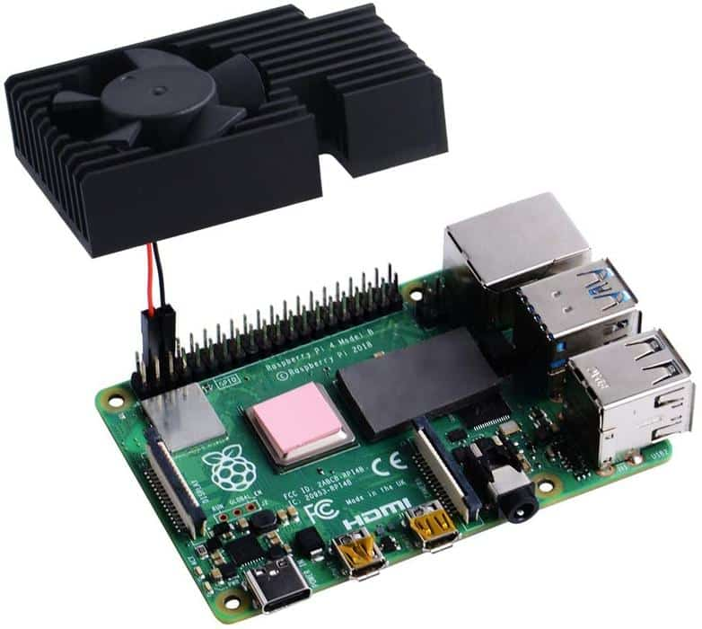 Raspberry Pi cooling kit aansluiten