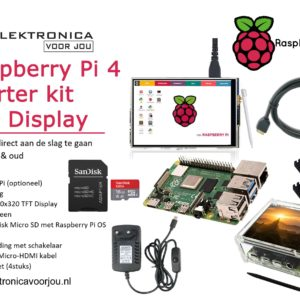 Raspberry Pi 4 starter kit met display