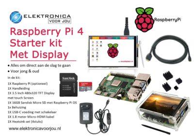 Raspberry Pi 4 starter kit met display