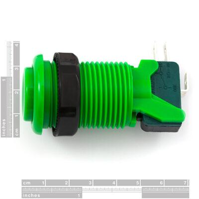 Concave knop groen afmeting