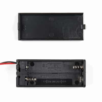 Inside 2XAAA microbit battery holder